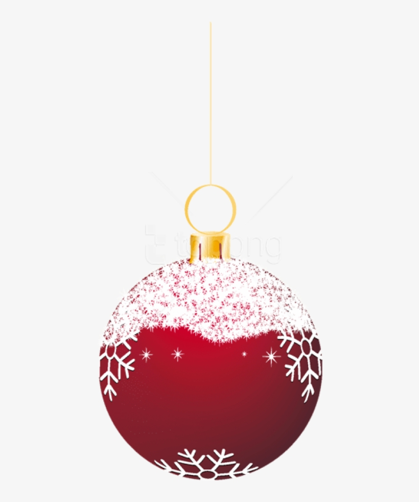 Free Png Transparent Red Snowy Christmas Ball Ornament - Transparent Christmas Balls Png, transparent png #9527187
