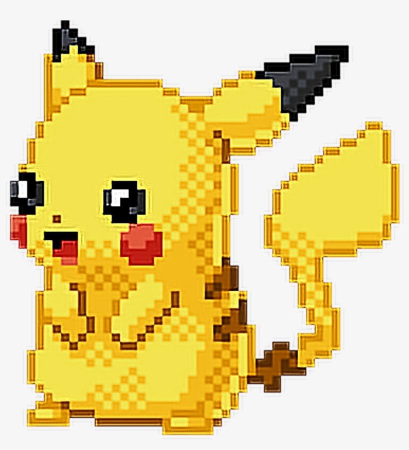 #pokemon #pikachu #pixel #art #pixelated #cute #adorable - Draw Pikachu Pixel Art, transparent png #9530167