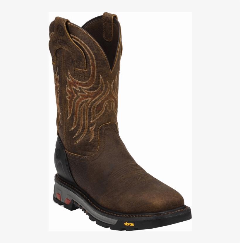 Wk2111 Justin Men's Pull On Commander X 5 Steel Toe - Waterproof Cowboy Boots Women, transparent png #9532994