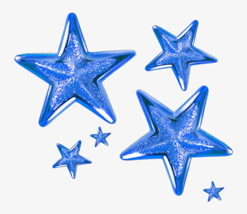 #blue #star #stars - Gold Christmas Star Clipart, transparent png #9534894