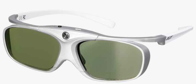 Png Acer E4w Dlp 3d Shutter Glasses White - Tints And Shades, transparent png #9552944