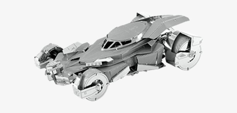 Metal Earth Batman Dawn Of Justice Batmobile 3d Miniature - 3d Metal Model Batman, transparent png #9554384