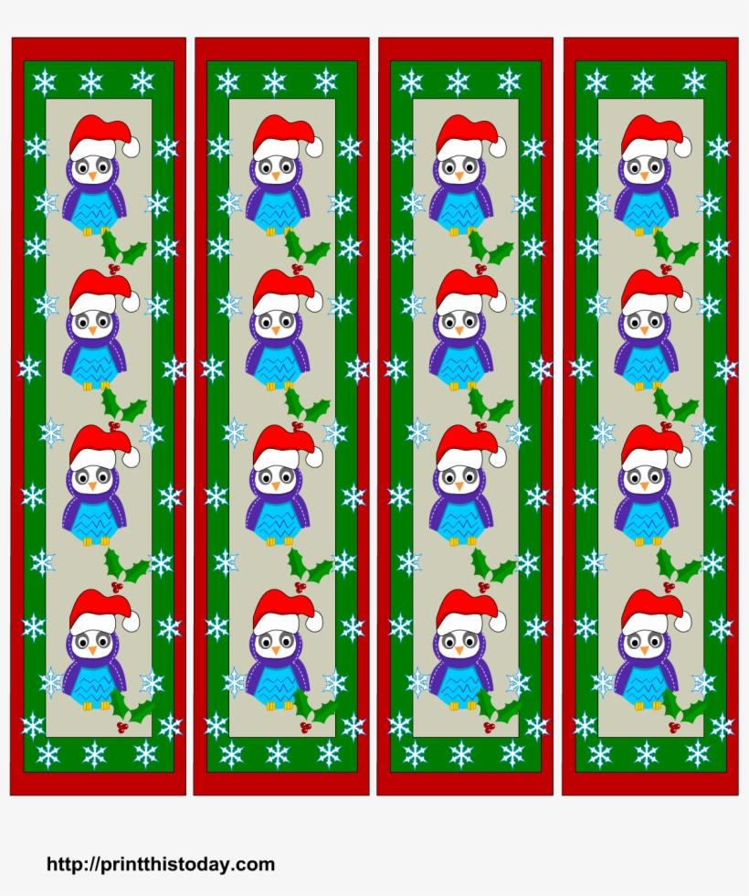 graphic regarding Printable Christmas Bookmarks named Lovable Owls Xmas Bookmarks Printables - Lovely Printable