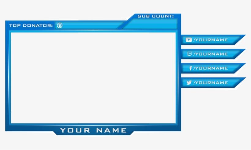 Webcam Border Png - Facecam Border Template Png, transparent png #9559245