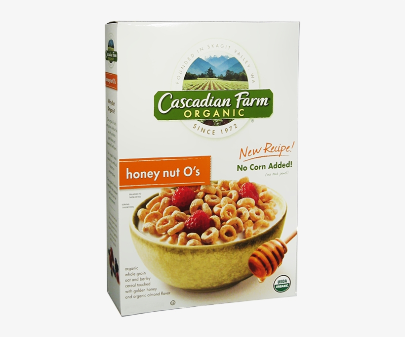 Cascadian Farm Organic Honey Nut Os Cereal Box-9 - Organic Cereal Box, transparent png #9559798