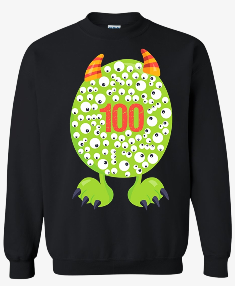 100th Day Of School T Shirt Monster Happy 100 Days - Boys 100 Days Shirt, transparent png #9559832