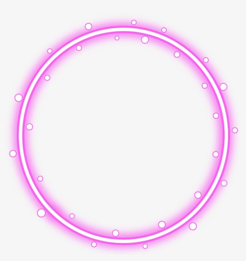 #neon #round #pink #freetoedit #circle #frame #border - Red Circle Border Transparent, transparent png #9559918