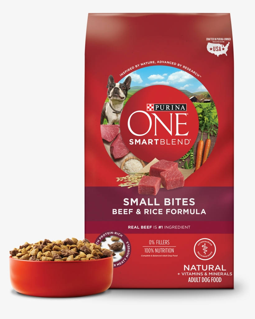Wow Small Dogs Like It - Purina One Dog Food Small Bites, transparent png #9569716