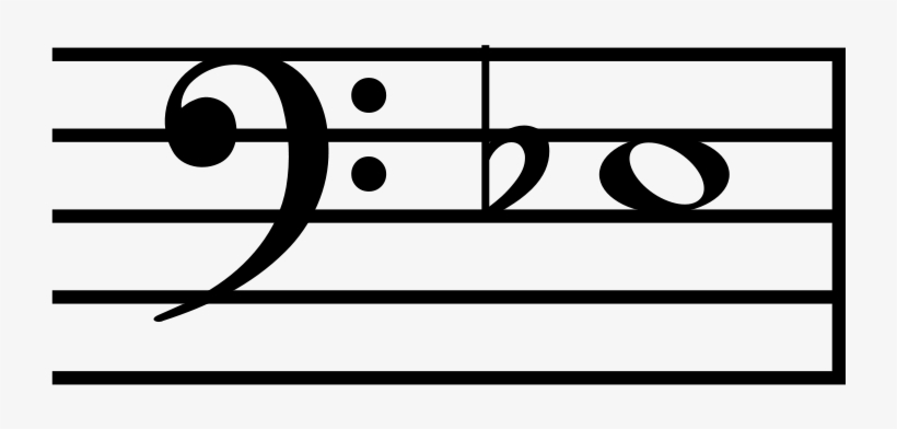 File - E3 Flat - Svg - Music Notes Bass Clef, transparent png #9571955