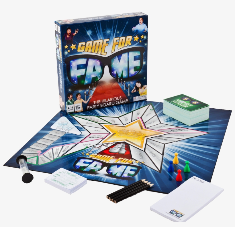 Party Board Game - Fame Game Board Game, transparent png #9587141