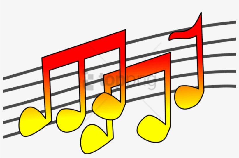 Free Png Download Color Music Notes Png Png Images - Clip Art Music Png, transparent png #9592029
