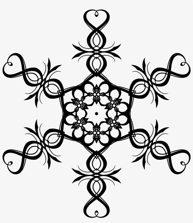 Snowflake Border Clip Art Heart