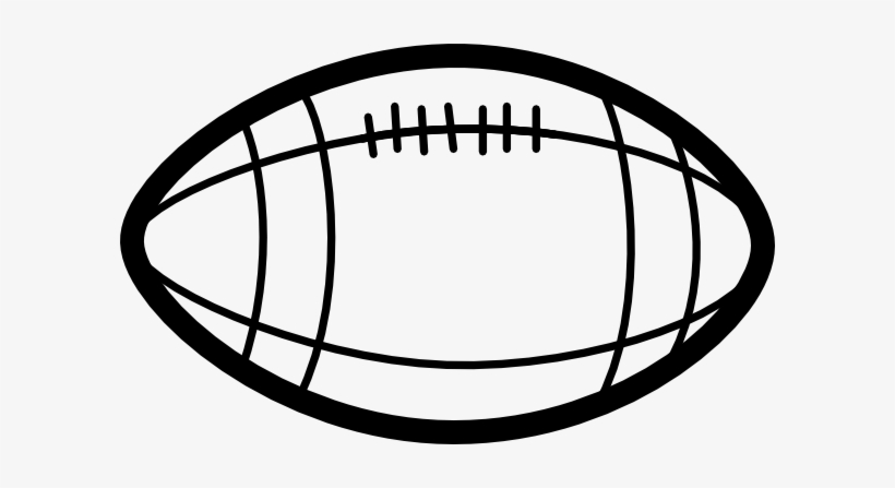 Clip Arts Related To - Football Clipart Black And White, transparent png #961367