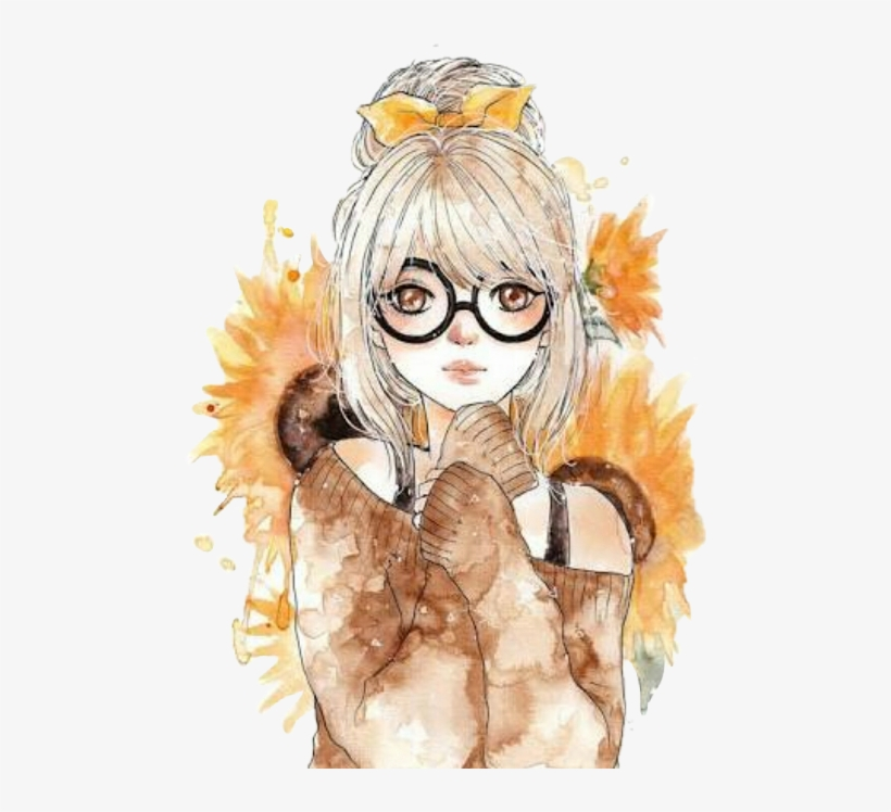Sunflower Girl Tumblr Drawing Free Transparent Png Download Pngkey