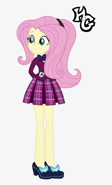 Eg Prep Fluttershy By - Equestria Girls Rainbow Dash Crystal Prep, transparent png #962519
