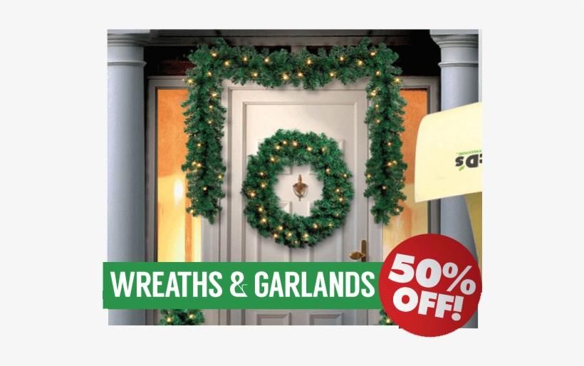 See All Our Departments - Premier Decorations Pre-lit Christmas Door Set, transparent png #964520