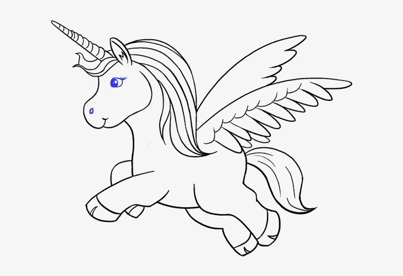 How To Draw A Unicorn In A Few Easy Steps - Step How To Draw A Unicorn, transparent png #966023