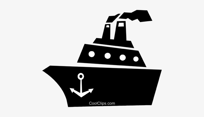 Cruise Ship Royalty Free Vector Clip Art Illustration - Cruise Ship Clipart Black And White, transparent png #966621
