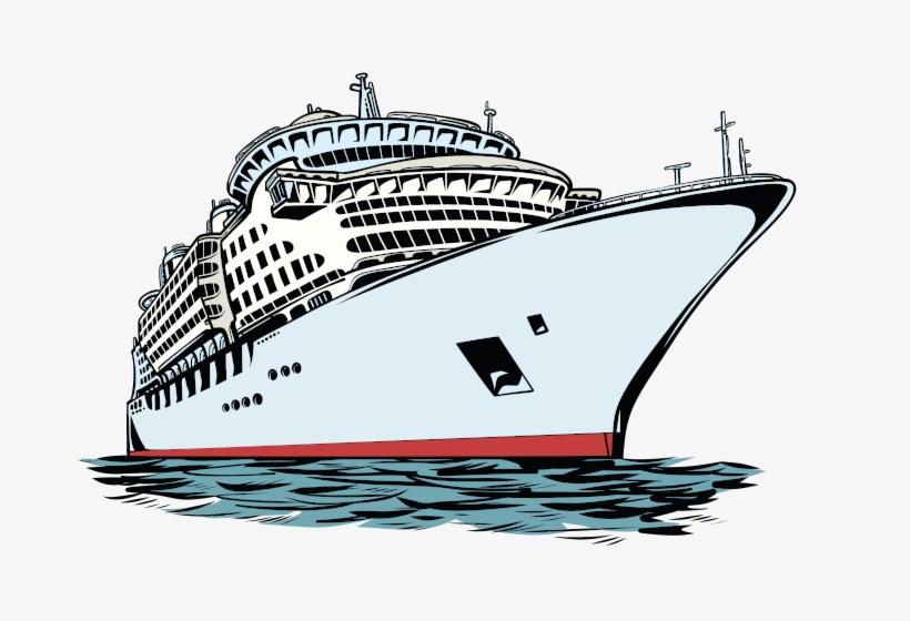 Cruise Ship - Cruise Ship Cartoon Drawing, transparent png #967256