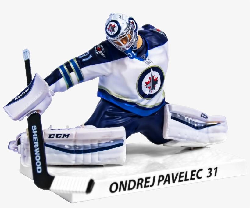 Pavelec - 2015/16 Ondrej Pavelec Winnipeg Jets Nhl Figure (16, transparent png #967935