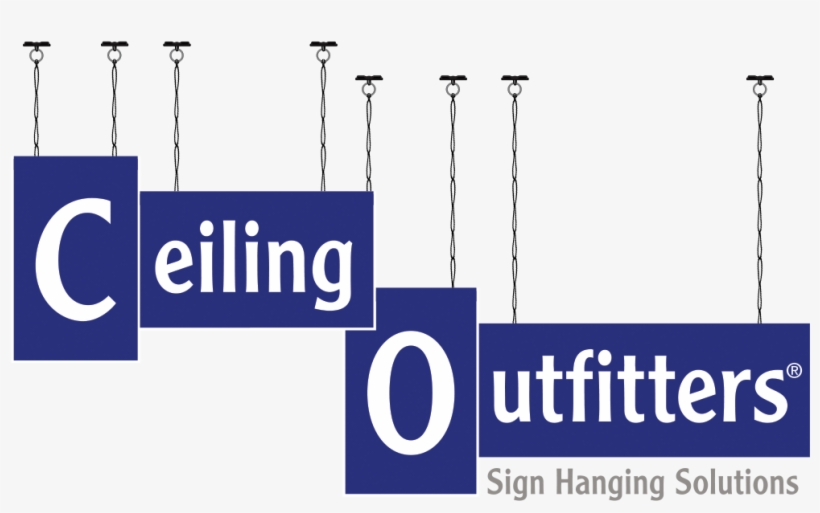 Ceiling Outfitters - Ceiling Hanging Sign Kits, transparent png #969758