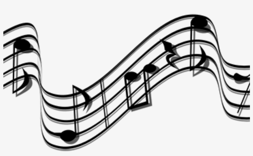 Black And White Music Notes Musical Notes Images Pixabay - Stream Of Music Notes, transparent png #9602173