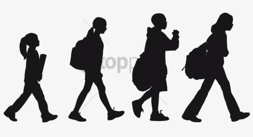 Free Png Children Playing Silhouette Png Png Image - Silhouette, transparent png #9602228