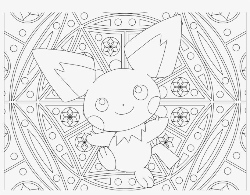 Pichu Pokemon 172 Color Pages Pokemon Coloring - Pichu Baby Pokemon Coloring Page, transparent png #9605189