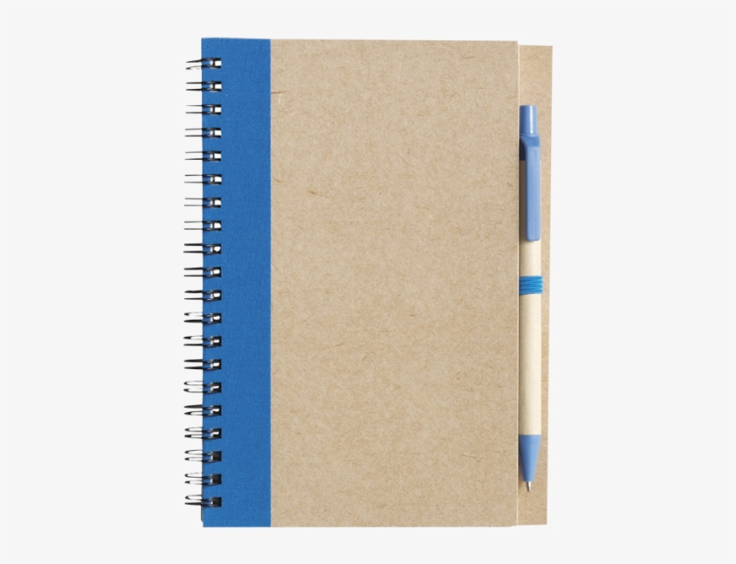 Recycled Spiral Notebook And Pen - Libreta Ecologica Con Pluma, transparent png #9605863