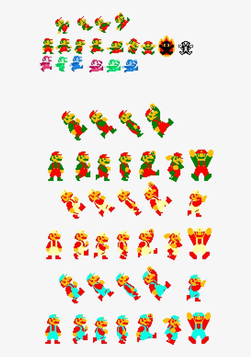 Mario Sprite Sheet Free Transparent Png Download Pngkey