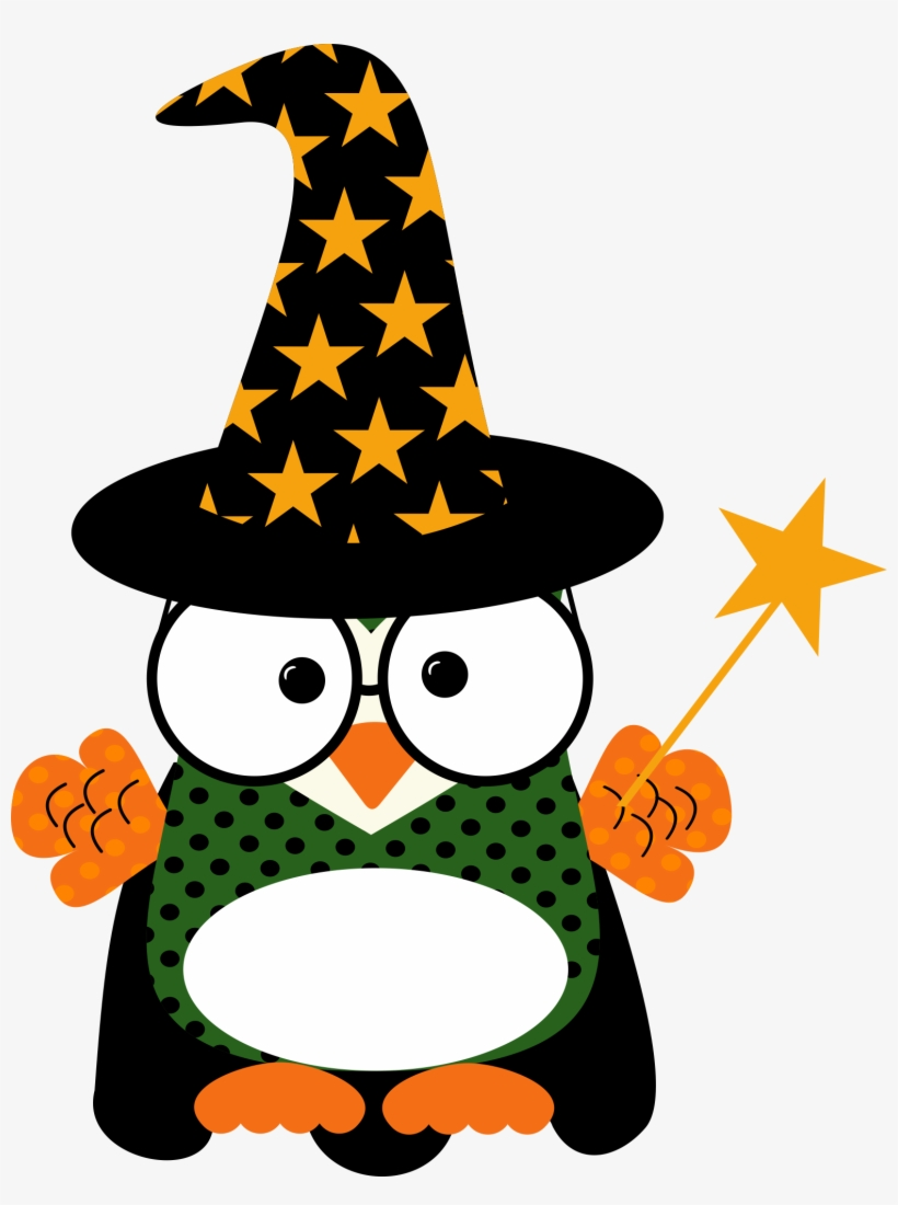 Happy Halloween Clipart Scary - Owl Happy Halloween Clip Art, transparent png #9611667