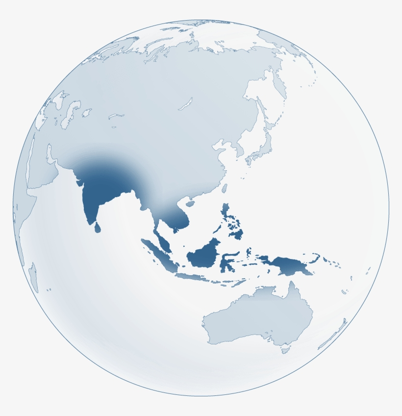 India - Southeast Asia Map Black - Free Transparent PNG