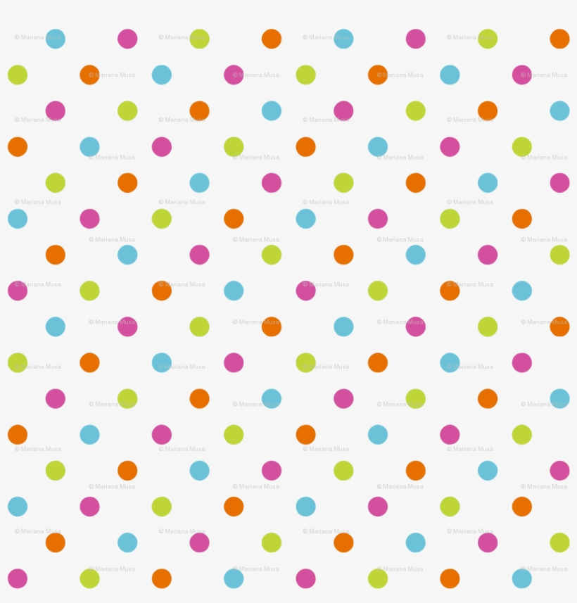 Fun Flowers Multi-coloured Polka Dots Wallpaper - Dots Pattern, transparent png #9621279
