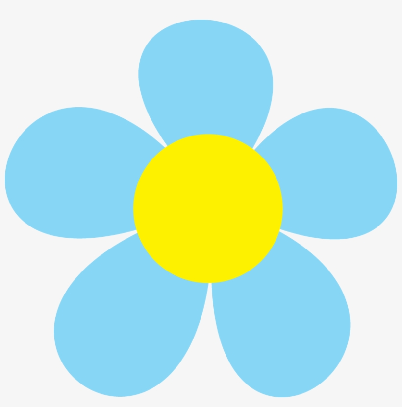 Black Bear Clip Art - Blue Spring Flowers Clip Art, transparent png #9629446