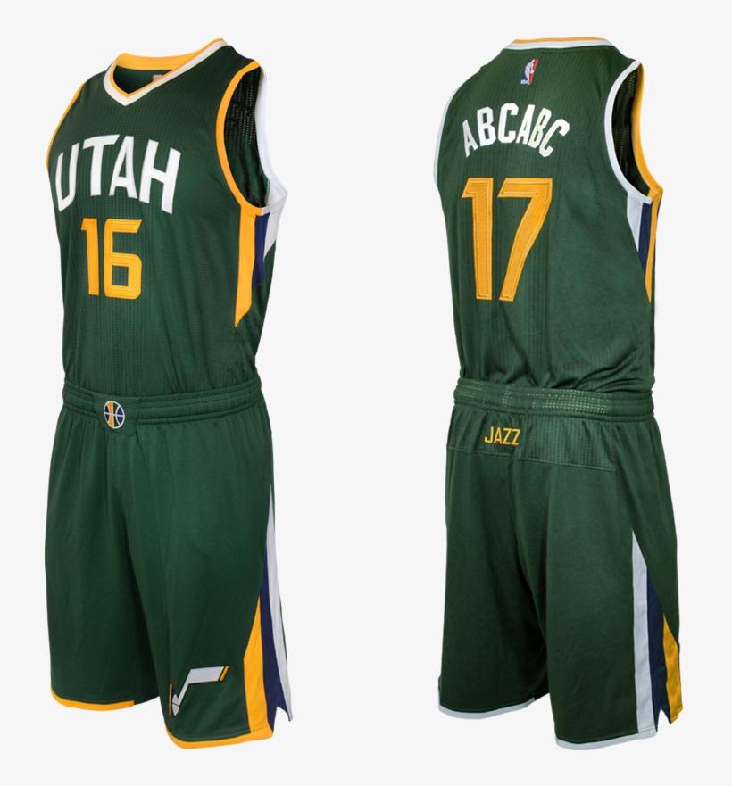 1 - Utah Jazz Uniform Green, transparent png #9630661