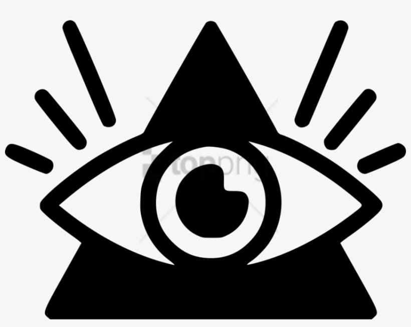Free Png Download All Seeing Eye Line Icon Png Images - All Seeing Eye Icon, transparent png #9633890