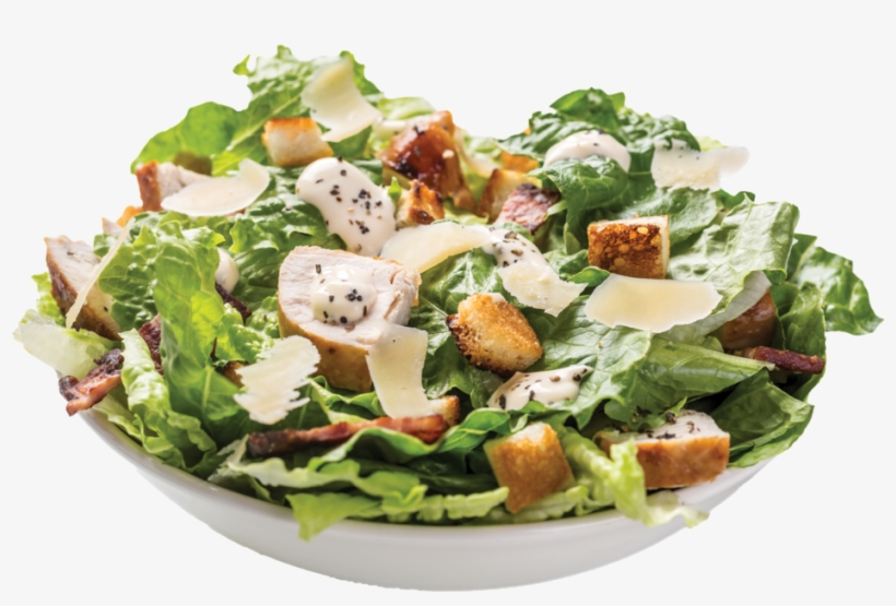 Mexican Food Png - Chicken Caesar Salad White Bowl, transparent png #9634296