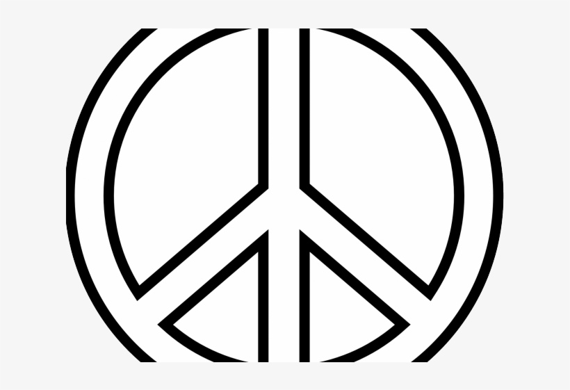 Peace Sign Clipart Peace Emoji - Peace Sign Drawing Easy, transparent png #9634344