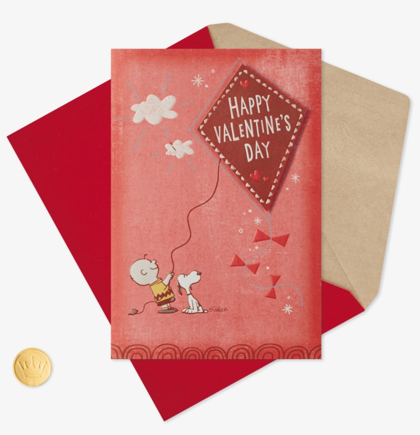 Peanuts® Charlie Brown And Snoopy Valentine's Day Card - Happy Valentine's Day Pic Son, transparent png #9637046