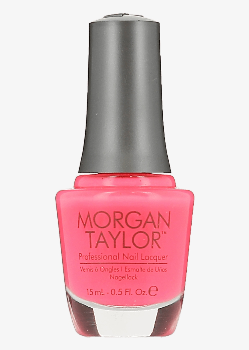 Morgan Taylor Neon Lights Pink Flame-ingo Nail Lacquer - Nail Polish, transparent png #9648247