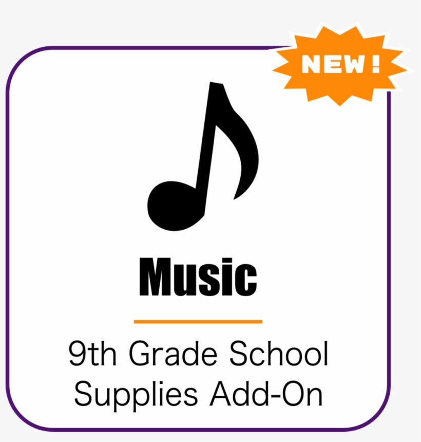 Music School Supplies Add-on - Graphic Design, transparent png #9652397