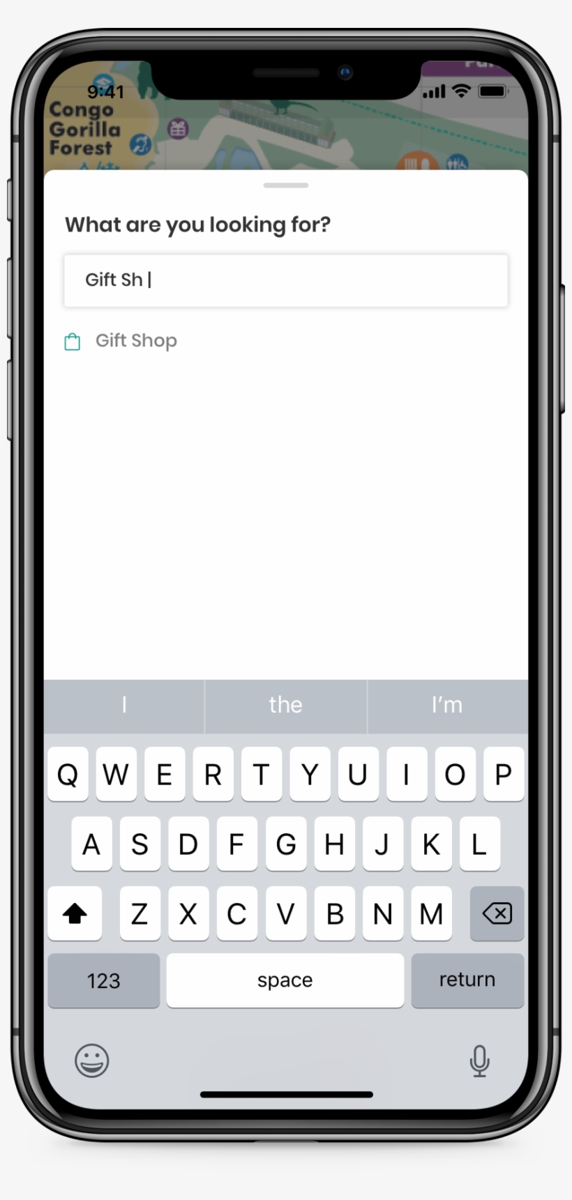 The Search Card Pops Up When User Taps On Search Bar - Iphone X Text Message, transparent png #9661139