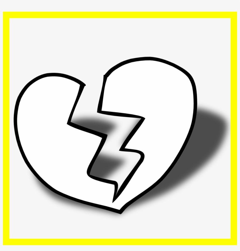 Broken Clipart Broken Hearted Girl - Broken Heart Black Png, transparent png #9663052
