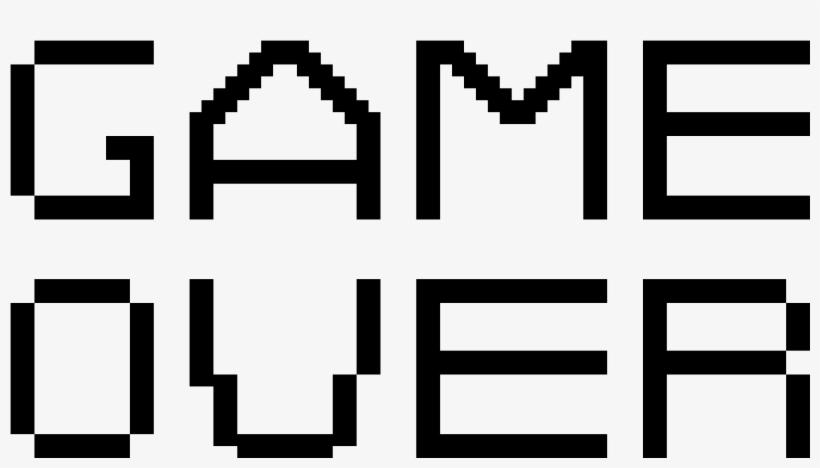 Game Over Pixel Line Art Free Transparent Png Download Pngkey