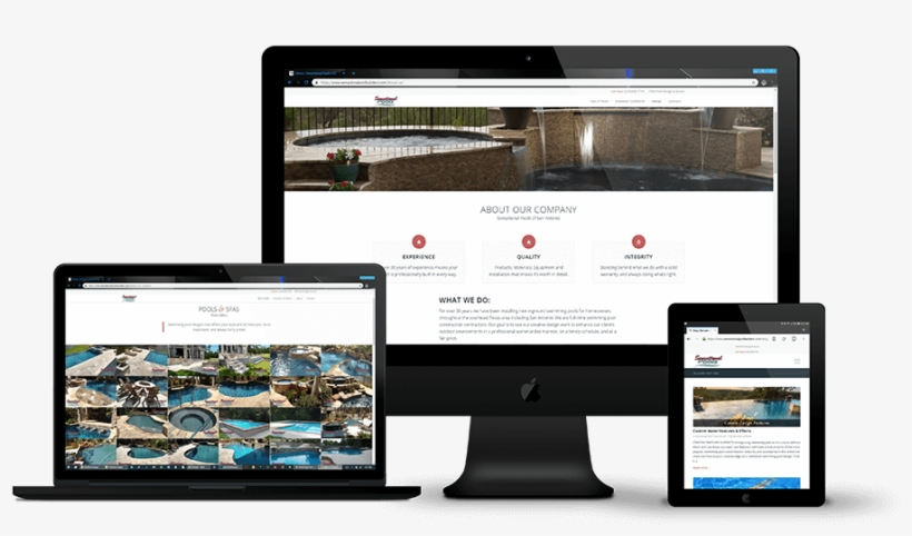 Website Design And Marketing For Swimming Pool Builders - Website And Mobile App Development, transparent png #9672112