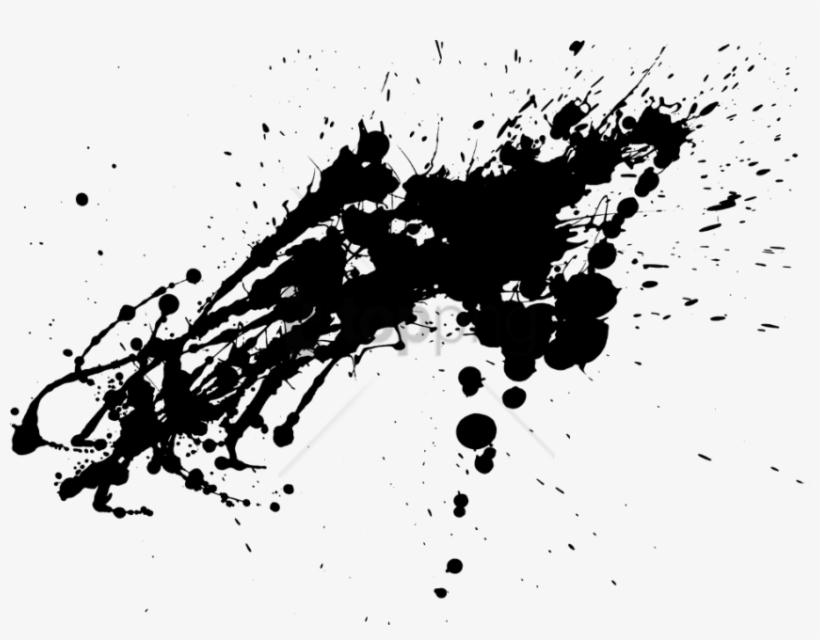 Free Png Download Ink Splash Png Png Images Background - Splash Paint Png Black, transparent png #9679466