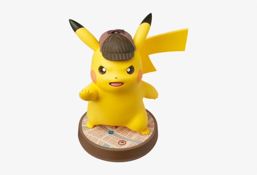 Mega Detective Pikachu - Pokemon Detective Pikachu Amiibo, transparent png #9681082