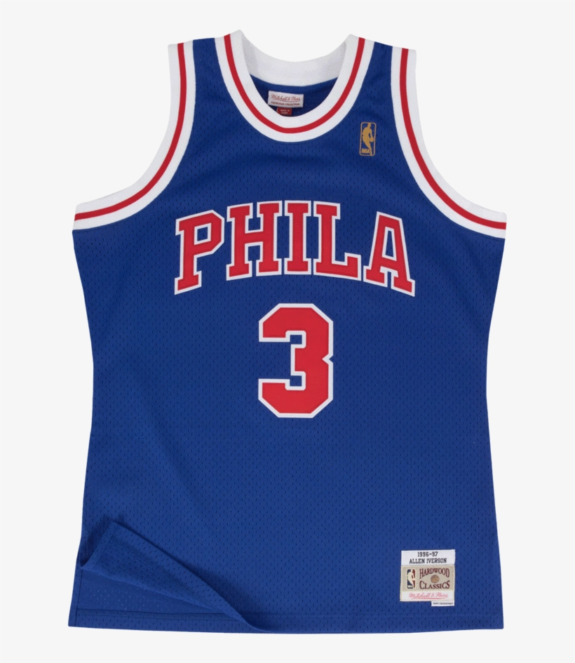 "Mitchell & Ness ""allen Iverson"" Philadelphia Sixers - Allen Iverson Jersey Mitchell And Ness, transparent png #9683560"