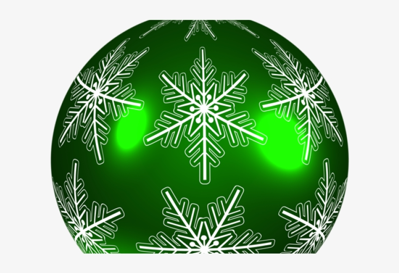 Snowflake Clipart Embellishment - Green Christmas Ball Png, transparent png #9683917