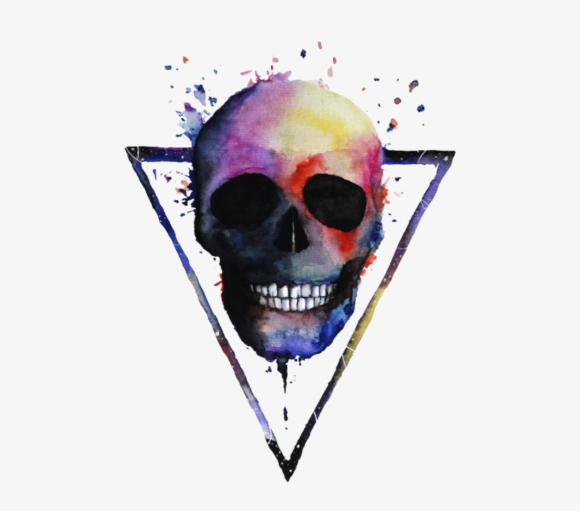 Skull Painting Colorful, transparent png #9692232